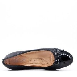 Zapatos de tacón de piel sintética negro para mujer