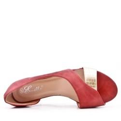 Bailarina roja en gamuza sintética