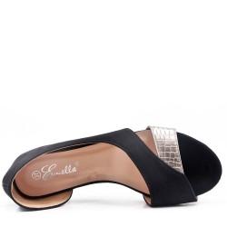 Ballerine noir confort en simili cuir