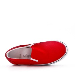 Basket rouge enfant sans lacet