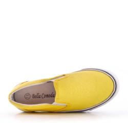 Basket jaune enfant sans lacet