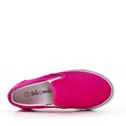 Zapatillas sin cordones fucsia para niños