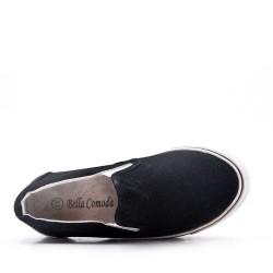 Basket noir enfant sans lacet