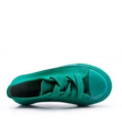 Basket vert enfant à lacet