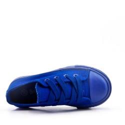 Basket bleu enfant à lacet
