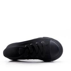 Basket noir enfant à lacet