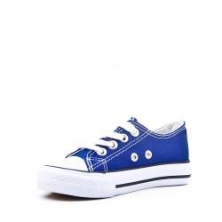 Basket blue enfant à lacet