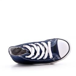 Basket bleu foncé enfant à lacet