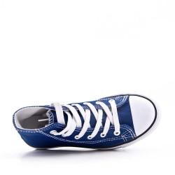 Basket jean enfant à lacet