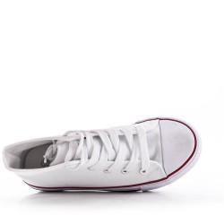 Basket blanc enfant à lacet