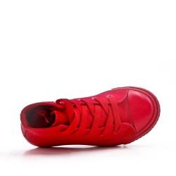 Basket rouge enfant à lacet