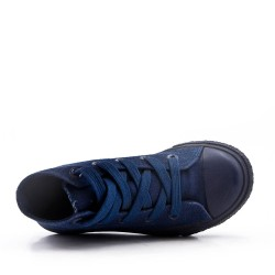 Children's navy lace-up basket