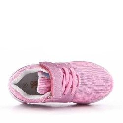 Children's pink sneaker with scratch