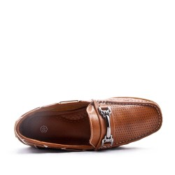 Faux leather moccasin
