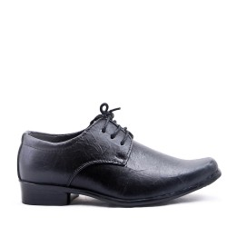 Boy's Topstitched Lace-Up Derby