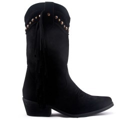 Faux suede boot