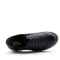 Derby faux leather lace-up