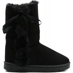 Ankle boot in faux suede