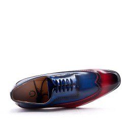 Faux leather derby for men