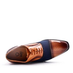 Derby in material mix with lace for men
