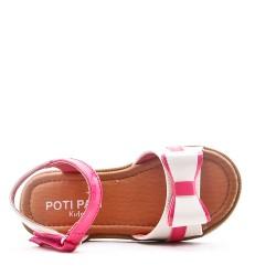 Sandale fille en simili cuir