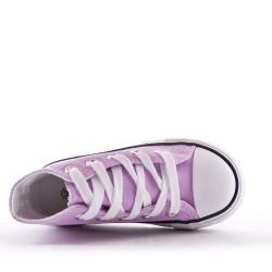 Child's purple lace-up basket