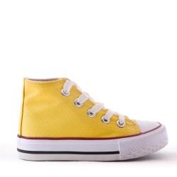 Basket jaune enfant à lacet