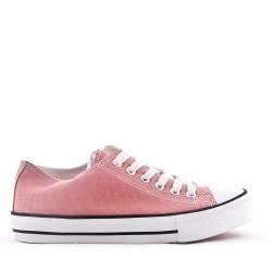 Basket rose enfant à lacet