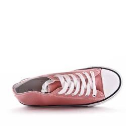 Cesta infantil con cordones rosa