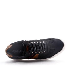 Lace-up mix-material tennis