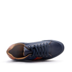 Lace-up faux leather tennis