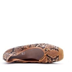 Grande taille - Ballerine confort imprimé motif serpent
