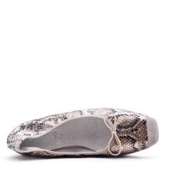 Comfort ballerina with snake pattern print