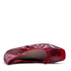 Ballerine confort imprimé motif serpent