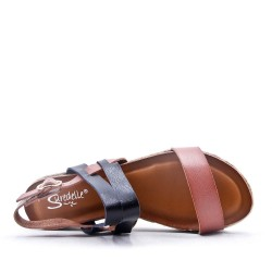 Sandal with espadrille sole