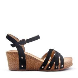 Sandale compensée pour femme