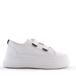 Velcro faux leather sneaker