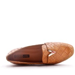 Large size 38-43 - Flat faux leather mocassin for women