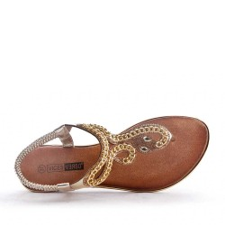 Big size 38-43 -Flat sandal in faux leather