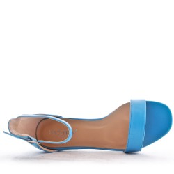 Sandal in faux leather with heel
