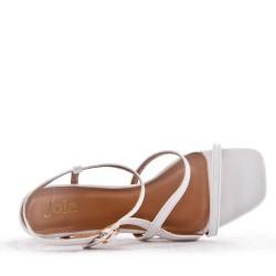 Sandale à talon en simili cuir