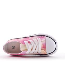 Basket rose tie-dye enfant à lacet
