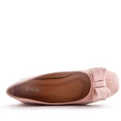 Faux suede ballet flat