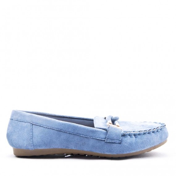 Women's mocassin in faux suede