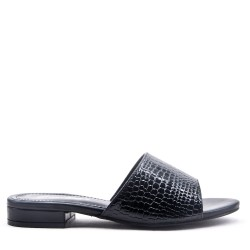 Faux leather slipper