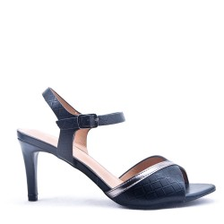 Faux leather heeled sandal