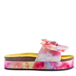 Wedge sandal in textile