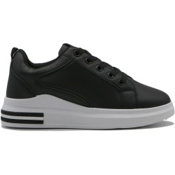 Women's faux leather sneaker