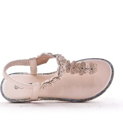 Faux leather sandal