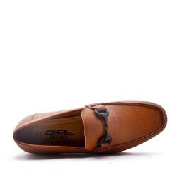 Faux leather derby